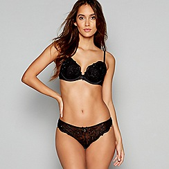 B by Ted Baker - Black embroidered underwired padded plunge bra
