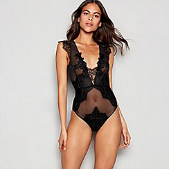 Reger by Janet Reger - Black lace mesh 'Mia' body