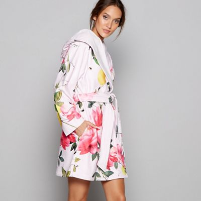 B By Ted Baker Pink Fl Print Citrus Bloom Dressing Gown Debenhams