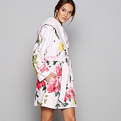 B by Ted Baker - Pink floral print 'Citrus Bloom' dressing gown