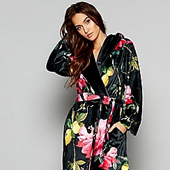 B by Ted Baker - Multi-coloured floral print 'Citrus Bloom' long sleeve dressing gown