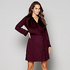 Nine by Savannah Miller - Purple cotton blend dressing gown