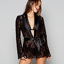 Lipsy - Black lace satin 'Darcelle' jacket