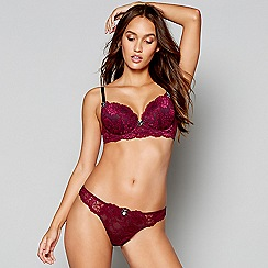 Lipsy - Purple lace 'Janey' underwired padded plunge bra