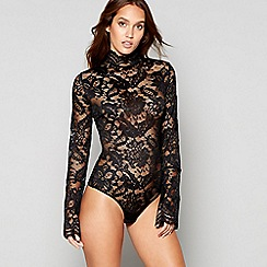 Lipsy - Black lace 'Darcia' body