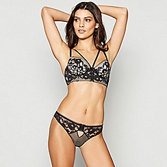 Ann Summers - Black lace 'Matia' underwired padded plunge bra