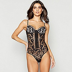 Ann Summers - Black 'Matia' lace body