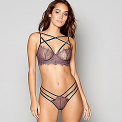 Ann Summers - Grey floral lace 'Marian' underwired non-padded bralette