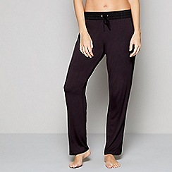 Nine by Savannah Miller - Black animal print loungewear bottoms