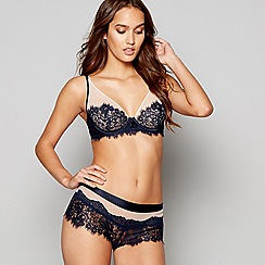 B by Ted Baker - Navy lace mesh underwired non-padded bra