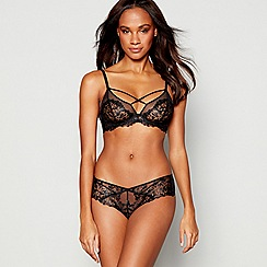 Reger by Janet Reger - Black lace 'Midnight' underwired non-padded triangle bra