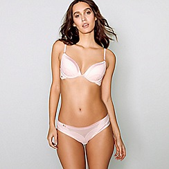 B by Ted Baker - Pink lace satin underwired padded plunge bra