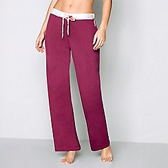 B by Ted Baker - Dark red 'Porcelain Rose' pyjama bottoms
