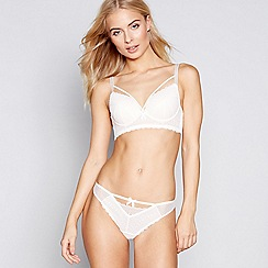 Nine by Savannah Miller - Ivory graphic lace underwired padded balcony bra