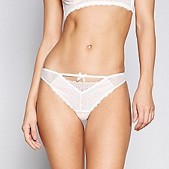 Nine by Savannah Miller - Ivory graphic lace thong