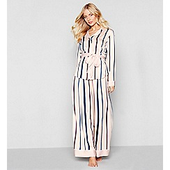 Nine by Savannah Miller - Multi-coloured stripe print loungewear set