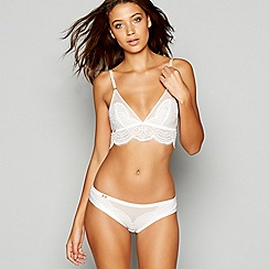 B by Ted Baker - White lace non-wired non-padded bralette