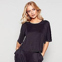 Nine by Savannah Miller - Black short sleeve loungewear top