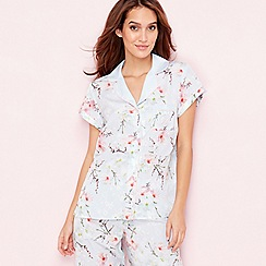 B by Ted Baker - Blue 'Blossom' print pyjama top
