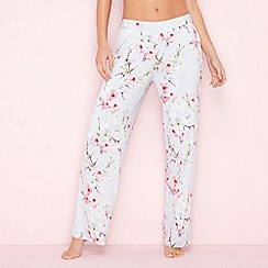 B by Ted Baker - Blue floral print 'Blossom' pyjama bottoms