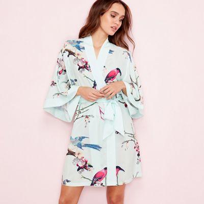 B By Ted Baker Green Flight Of The Orient Print Kimono Debenhams