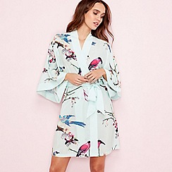 B by Ted Baker - Green 'Flight of the Orient' print kimono
