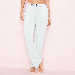 B by Ted Baker - Green 'Flight of the Orient' plain pyjama bottoms