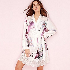 B by Ted Baker - Pink posy print satin 'Ethereal' kimono