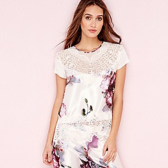 B by Ted Baker - Pink posy print satin 'Ethereal' pyjama top
