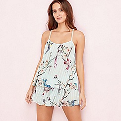 B by Ted Baker - Green 'Flight of the Orient' pleated cami and shorts set