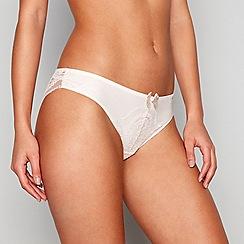 Reger by Janet Reger - Nude lace Brazilian knickers