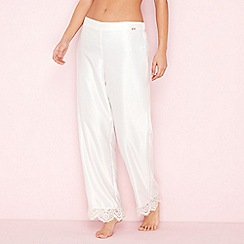 B by Ted Baker - Ivory satin 'Tie The Knot' pyjama bottoms