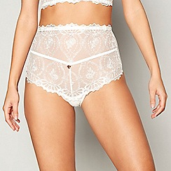Lipsy - Ivory lace 'Ophelia' full brief knickers