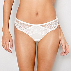 Ann Summers - Ivory embroidered 'Paige' thong
