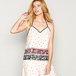 Nine by Savannah Miller - Pink floral border print camisole