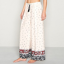 Nine by Savannah Miller - Pink floral border print pyjama bottoms