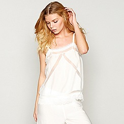 Nine by Savannah Miller - White embroidered lace 'Dobby' camisole