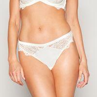 1 Jenny Packham - Ivory bridal satin lace  Cornelli  thong 7bd99ad32