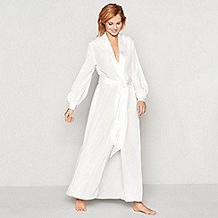 No. 1 Jenny Packham - Ivory bridal chiffon satin dressing gown