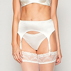 No. 1 Jenny Packham - Ivory silk blend suspender belt