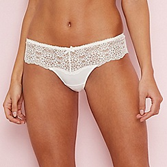 The Collection - Cream floral lace thong