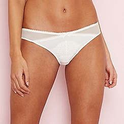 The Collection - Cream floral lace Brazilian knickers