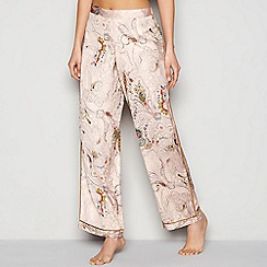 Nine by Savannah Miller - Pink paisley print satin bottoms and add to pyjamas bottoms
