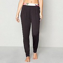 B by Ted Baker - Black jersey 'Painted Posey' pyjama bottoms