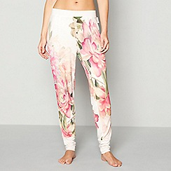 B by Ted Baker - Light pink floral print jersey 'Painted Posey' pyjama bottoms