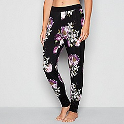 B by Ted Baker - Black 'Sunlit Floral' print pyjama joggers