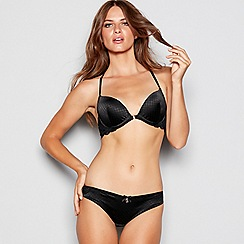 B by Ted Baker - Black jacquard lace underwired padded plunge bra