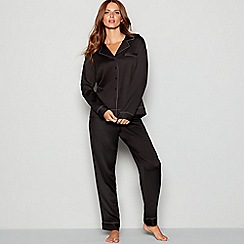 Nine by Savannah Miller - Black 'Revere' long sleeve pyjama set