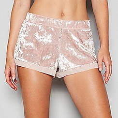 Nine by Savannah Miller - Pale pink velvet pyjama shorts