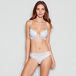 B by Ted Baker - Pale blue lace underwired padded plunge bra